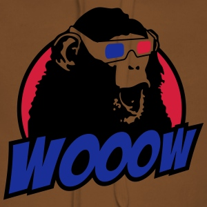 3D Glasses amazed Monkey T-shirts - Vrouwen Premium hoodie