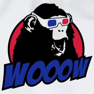 3D Glasses amazed Monkey T-shirts - Gymnastikpåse