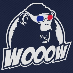 3D Glasses amazed Monkey T-shirts - Basebollkeps
