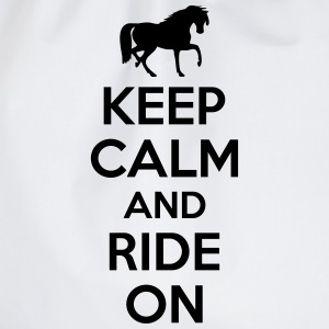 Keep calm and ride on T-Shirts - Turnbeutel