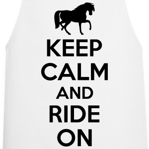 Keep calm and ride on T-Shirts - Cooking Apron