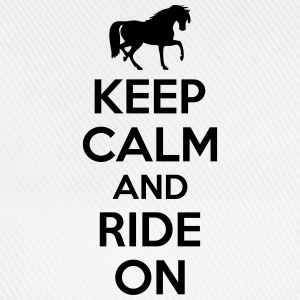Keep calm and ride on T-shirts - Basebollkeps