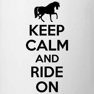 Keep calm and ride on T-shirts - Mugg