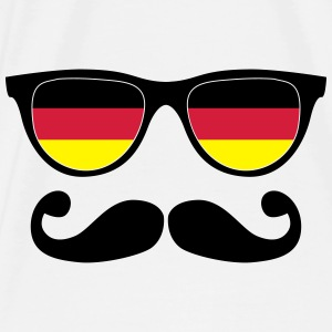 german mustache glasses nerd - like a sir Bags & backpacks - Men's Premium T-Shirt
