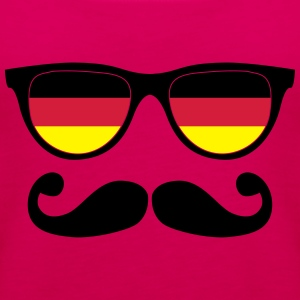 german mustache glasses nerd - like a sir Tee shirts - Débardeur Premium Femme