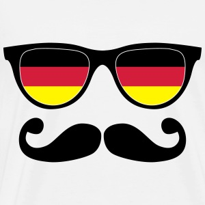 german mustache glasses nerd - like a sir Hoodies - Men's Premium T-Shirt