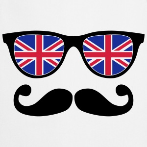 english mustache glasses nerd - like a sir Hoodies - Cooking Apron