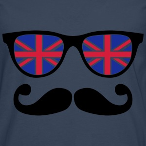 english mustache glasses nerd - like a sir Hoodies - Men's Premium Longsleeve Shirt