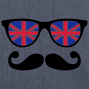 english mustache glasses nerd - like a sir Hoodies - Shoulder Bag made from recycled material