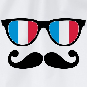 french mustache glasses nerd - like a sir T-Shirts - Drawstring Bag