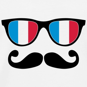 french mustache glasses nerd - like a sir Flessen & bekers - Mannen Premium T-shirt
