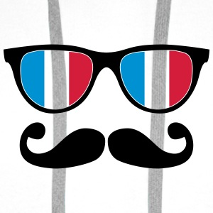 french mustache glasses nerd - like a sir Bottles & Mugs - Men's Premium Hoodie