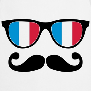 french mustache glasses nerd - like a sir Shirts - Keukenschort