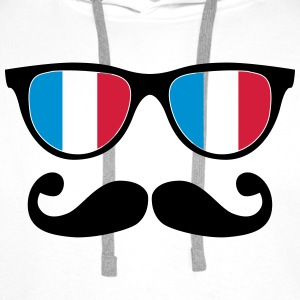 french mustache glasses nerd - like a sir Shirts - Mannen Premium hoodie