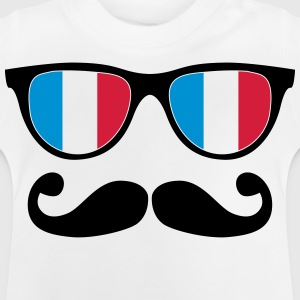 french mustache glasses nerd - like a sir Shirts - Baby T-shirt