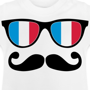french mustache glasses nerd - like a sir T-Shirts - Baby T-Shirt