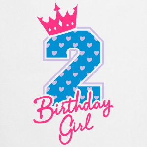 Zweiter Geburtstag-Second Birthday-Birthday Girl Shirts - Keukenschort