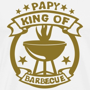 papy king roi barbecue logo fete 1 Tabliers - T-shirt Premium Homme