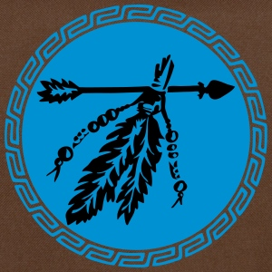 Arrow with feathers, protection & power symbol T-shirts - Schoudertas