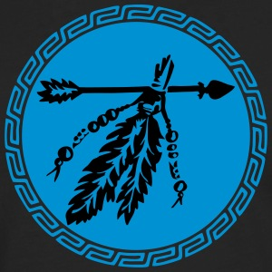 Arrow with feathers, protection & power symbol T-shirts - Mannen Premium shirt met lange mouwen
