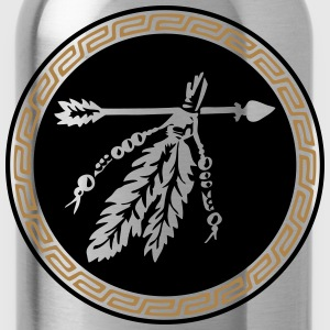 Arrow with feathers, Native American Indian tribes T-Shirts - Water Bottle