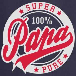 100 percent PURE SUPER PAPA 2C T-Shirt RW - Delantal de cocina