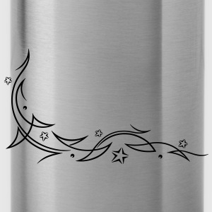 Tribal, Tattoo, Sterne - Trinkflasche