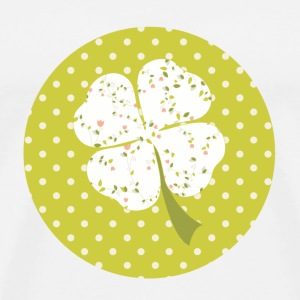 white liberty clover Buttons - Men's Premium T-Shirt