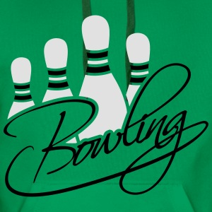 Bowling Pins Text Logo Design Tee shirts - Sweat-shirt à capuche Premium pour hommes