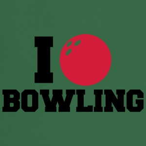I Love Bowling Logo Design T-Shirts - Cooking Apron