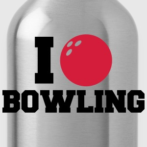 I Love Bowling Logo Design T-Shirts - Water Bottle