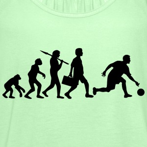Evolution Of Bowling Tee shirts - Débardeur Femme marque Bella
