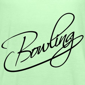 Bowling Text Logo Design T-Shirts - Women's Tank Top by Bella
