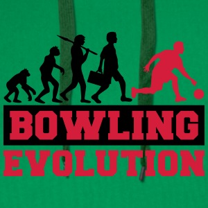 Bowling Evolution T-Shirts - Men's Premium Hoodie