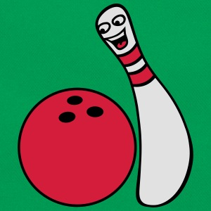 Cheeky Comic Bowling Pin T-shirts - Retro taske