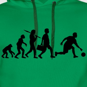Evolution Of Bowling T-Shirts - Men's Premium Hoodie