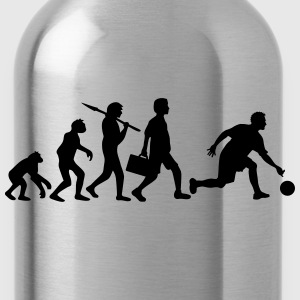 Evolution Of Bowling T-Shirts - Water Bottle