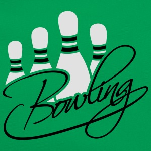 Bowling Pins Text Logo Design Koszulki - Torba retro
