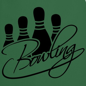 Bowling Pins Text Logo Design Tee shirts - Tablier de cuisine