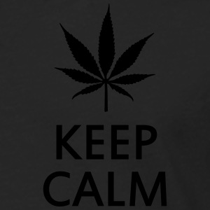 keep calm and smoke cannabis weed pot Camisetas polo  - Camiseta de manga larga premium hombre