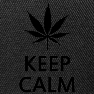 keep calm and smoke cannabis weed pot Koszulki polo - Czapka typu snapback