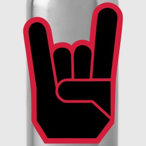 Rock Hand Pommesgabel Devilhand Shirts - Water Bottle