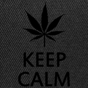 keep calm and smoke cannabis weed pot Sous-vêtements - Casquette snapback