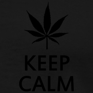 keep calm and smoke cannabis weed pot Gensere - Premium T-skjorte for menn
