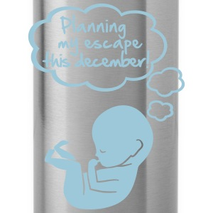 Planning my escape this december T-shirts - Vattenflaska