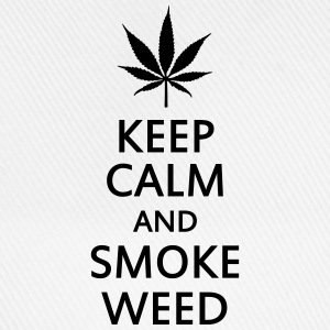 keep calm and smoke weed Coques pour portable et tablette - Casquette classique