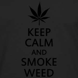 keep calm and smoke weed Vesker & ryggsekker - Premium langermet T-skjorte for menn