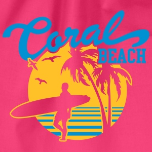Coral Beach Surfers Heaven T-shirts - Gymtas