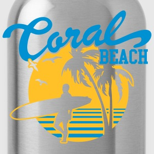 Coral Beach Surfers Heaven T-Shirts - Water Bottle