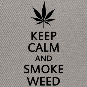keep calm and smoke weed Gensere - Snapback-caps